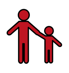 pictogram man and kid icon vector image