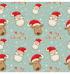 santa deer seamless big vector image vector image