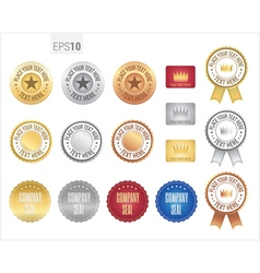 Set of premium quality guarantee badge and label vector image vector image