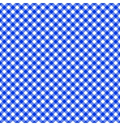 Table cloth seamless pattern blue vector image vector image