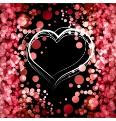Valentine Day Card With Heart vector image vector image