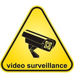 Video surveillance sign CCTV Camera vector image vector image