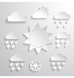 Weather icons white background vector