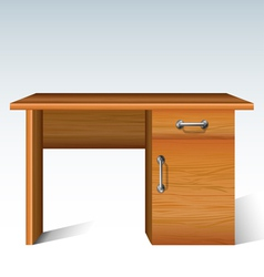 Wood desk vector image