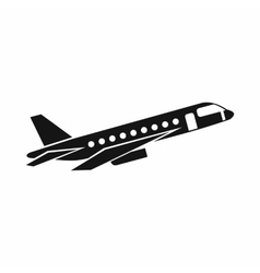 Airplane taking off icon simple style vector