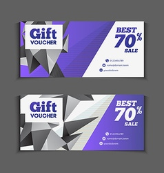Gift or discount voucher template with modern vector