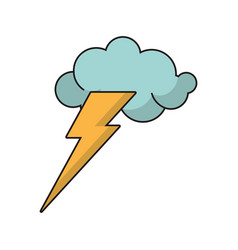 idea concept cloud lightning image vector image