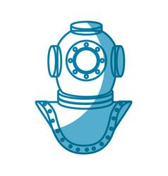 Deep sea diver vector