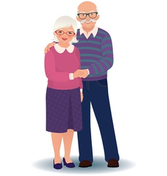 Elderly couple in love vector