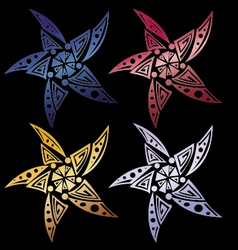 Star tribal set for tattoo vector