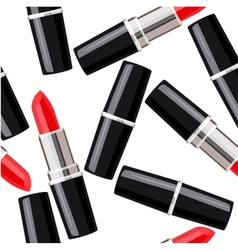 Seamless pattern with lipsticks vector