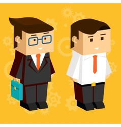 Square businessmen vector