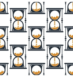 Hourglass or sandglass seamless pattern vector