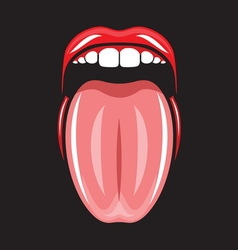 Pop art lips6 resize vector image