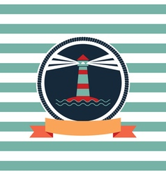 Card on sea theme vector