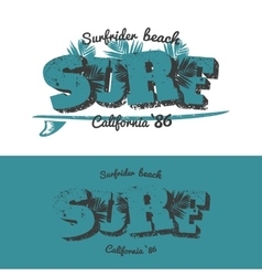Surf t-shirt design vector