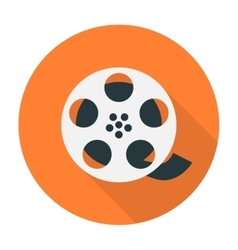 Film reel flat icon vector