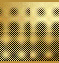 Abstract gold color halftone background vector