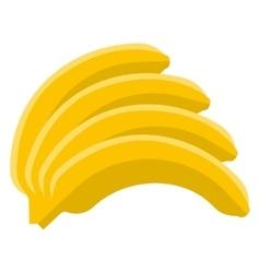 Banana flat icon vector image vector image