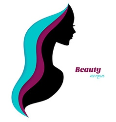 Beautiful and young woman vector image vector image
