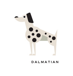 Cartoon dalmatian character icon isolated on white vector