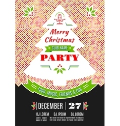 Christmas party poster design abstract vector image vector image