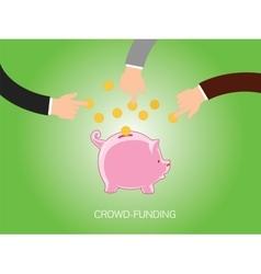 crowdfunding vector image