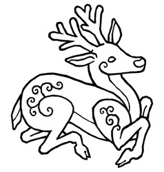 Decorative deer vector