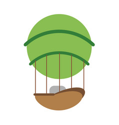hot air balloon icon image vector image vector image