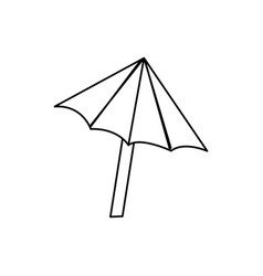 Line nice umbrella open to protect of sun vector