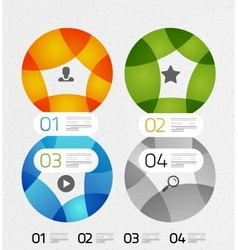 Modern colorful geometrical infographic vector image