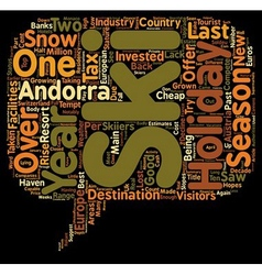 New cash for 2008 andorra ski holidays text vector