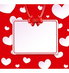 Paper banner with paper hearts vector