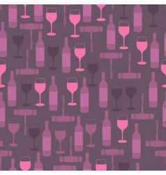 Restaurant seamless pattern vector image vector image