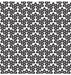 Seamless pattern of intersecting trefoils vector