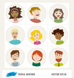 set of people avatar icons vector image vector image