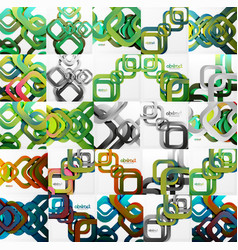 Set of square backgrounds vector