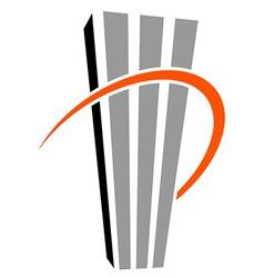 skyscraper symbol vector image
