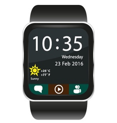 Smartwatch home screen vector