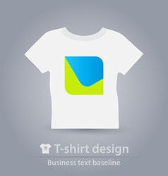 T-shirt design business icon vector image vector image