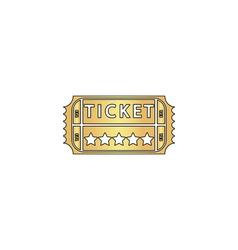 Ticket computer symbol vector image vector image