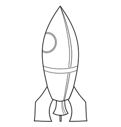 toy rocket vector image