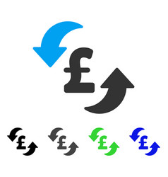 Update pound cost flat icon vector