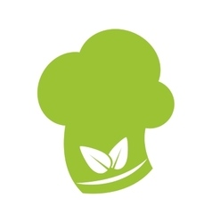 Leaf chefs hat healthy food icon graphic vector