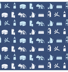 Seamless pattern with milk icons vector