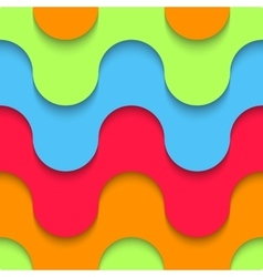 Wavy seamless pattern multilayer plastic vector
