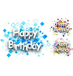 Happy birthday color backgrounds vector