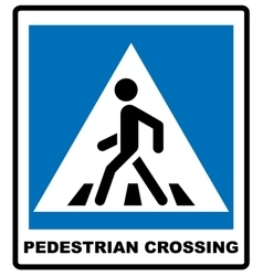 Pedestrian symbol isolated on vector