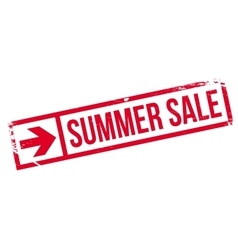Summer sale stamp vector image
