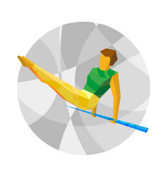 artistic gymnastics - horizontal bar vector image